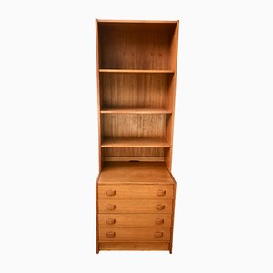 Danish Bookshelf with Drawers from Domino Mobler, 1960s