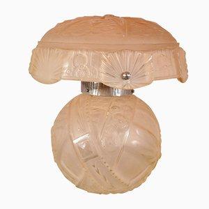 Lampe de Bureau Couleur Saumon Art Deco de Muller Frères