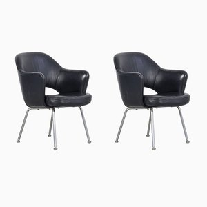 Leather Armchairs by Gastone Rinaldi, 1950s, Set of 2