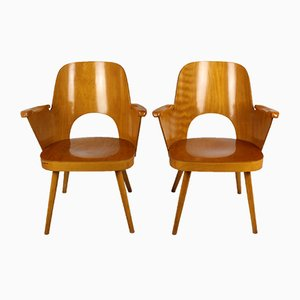 Armchairs by Lubomír Hofmann for TON, 1961, Set of 2