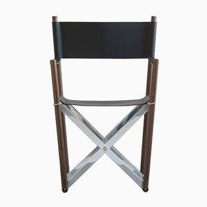 Regista Stuhl aus Narbenleder von Enrico Tonucci für Tonucci Manifestodesign