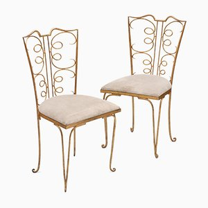 French Gilt Side Chairs, 1940s, Set of 2