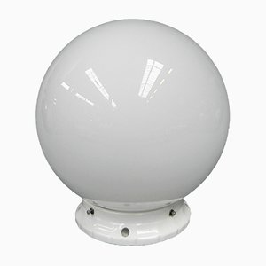 Art Deco Ceiling Lamp with Glass Globe