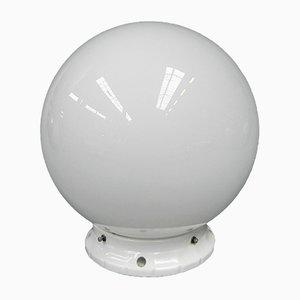 Plafonnier Art Deco avec Globe en Verre