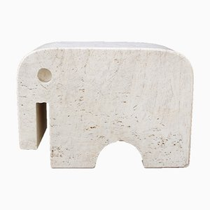 Italian Travertine Elephant Sculpture by Fratelli Mannelli, 1970s
