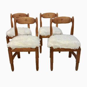 Vintage Stühle von Guillerme & Chambron für Maison Française, 4er Set