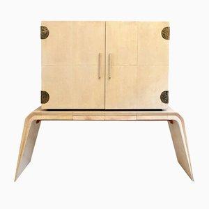 Mueble bar de pergamino de Guglielmo Ulrich, años 30