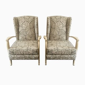 French Armchairs, 1940s, Set of 2