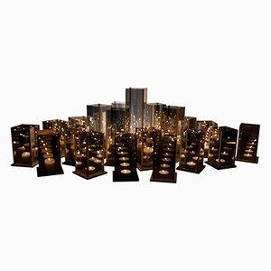 Kaléido Candleholders by Arturo Erbsman, Set of 20