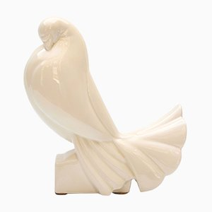 Ceramic Turtledove by Jacques Adnet, 1925
