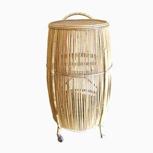 Italian Bamboo Drinks Trolley, 1950s