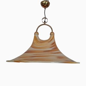 Trichterförmige Deckenlampe aus Fiberglas mit doppelter Öffnung, 1970er