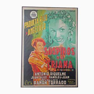 Póster español de la película Suspiros de Triana, 1961
