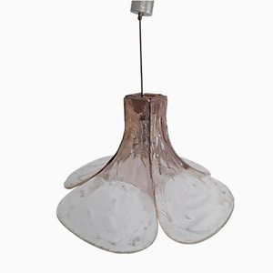 Lámpara en forma de embudo de vidrio, años 70