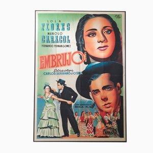 Póster español de la película Embrujo, años 50