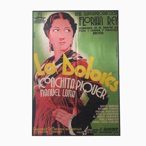 Póster español de la película La Dolores, años 30