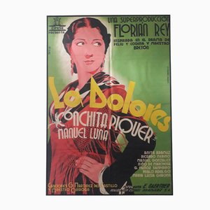 Spanish 'La Dolores' Movie Poster, 1930s