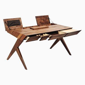 Locust Wood Desk by Alexandre Caldas