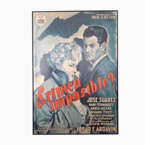 Póster español de la película Crimen Imposible, 1954