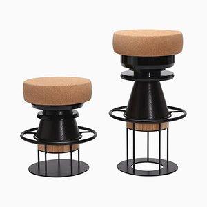 Black Tembo Stool by Note Design Studio