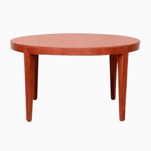 Tavolino da caffè rotondo in teak di Severin Hansen Jr. per Bovenkamp, anni '50