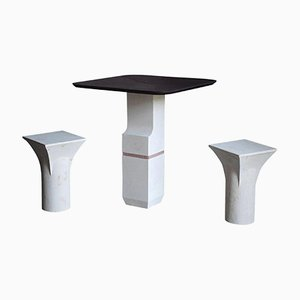 Ravissant Table and Stools Set by Frederic Saulou