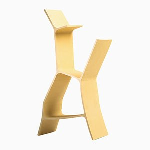 Yellow Famille de Terre Ceramic Shelf by Clément Brazille