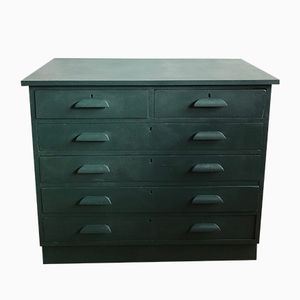 Mid-Century Painted Lab Chest of Drawers
