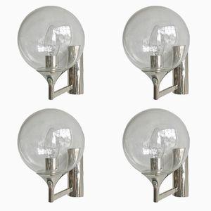 Flämische Wandlampen, 1970er, 4er Set