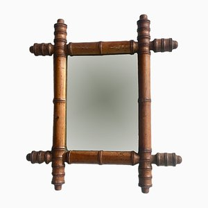 Miroir Vintage Imitation Bambou, France