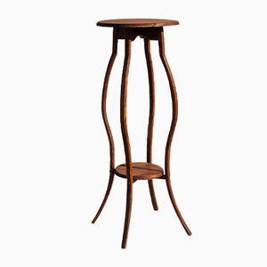 Mesa con pedestal francesa de roble, años 70