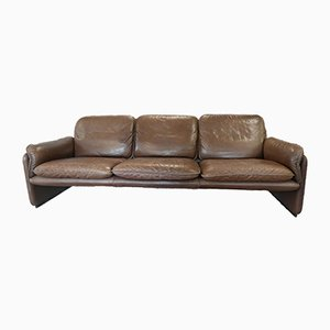 Vintage DS61 Brown Leather Sofa from De Sede, 1970s