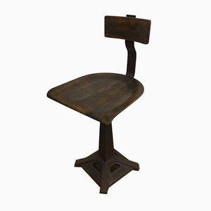 Chaise de Bureau d'Usine Vintage de Singer, 1930s