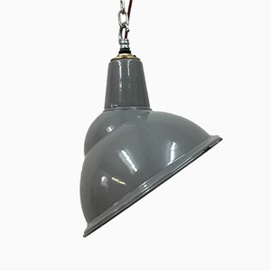 Grey Crysteel Parabolic Industrial Pendant Light from Benjamin Electric Manufacturing Company, 1950s