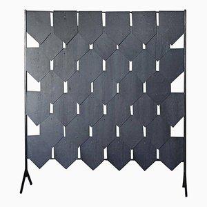 Schwarzer Pudique Raumteiler aus Schiefer von Frédéric Saulou
