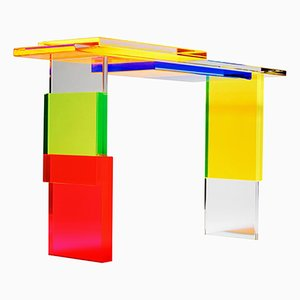 Colorful Destructured Console Table by Charly Bounan