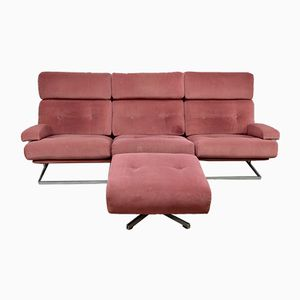 Mid-Century Nucleus Chairs & Footstool from Tetrad