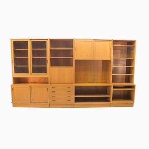 Conjunto de pared de ocho piezas de teca de Poul Hundevad para Hundevad & Co., años 60