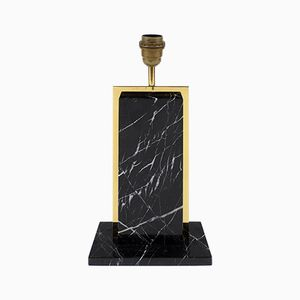 Belgian Marble and Brass Table Lamp, 1970s