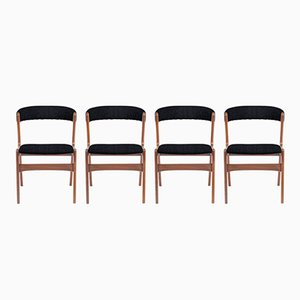 Customizable Vintage Danish Teak Dining Chairs, Set of 4