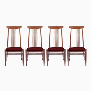 Customizable Vintage Danish Chairs with a High Back, Set of 4