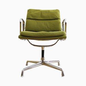 Silla acolchada EA 207 vintage de Charles & Ray Eames para Herman Miller