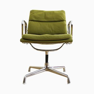 Vintage EA 207 Soft Pad Chair by Charles & Ray Eames for Herman Miller