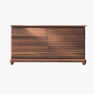 Sideboard aus geöltem Nuss-Naturholz mit 2 Türen von DALE Italia