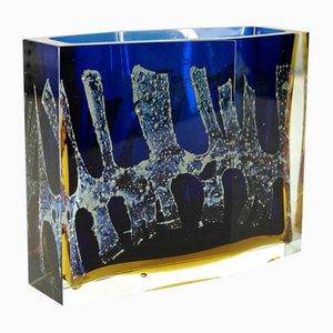 Jarrón de vidrio de Pavel Hlava, años 60