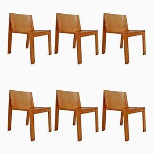 Niederländische SE15 Esszimmerstühle von Pierre Mazairac und Karel Boonzaaijer für Pastoe, 1970er, 6er Set