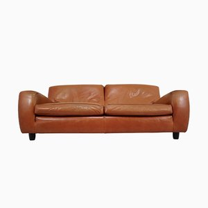 Model Fatboy Cognac Bull Leather Sofa from Molinari, 1980s