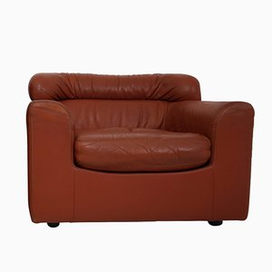 Cognac Buffalo Neck-Leather Armchair from Durlet, 1970s