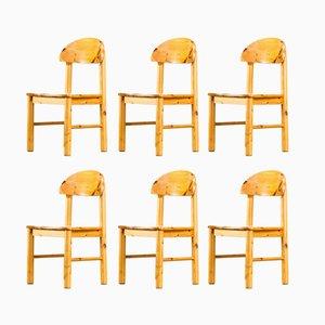 Esszimmerstühle aus Pinienholz von Rainer Daumiller für Hirtshals, 1970er, 6er Set