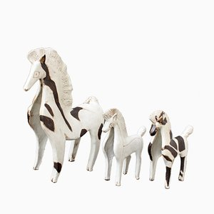Ceramic Horses by Bruno Gambone, 1970s, Set of 3